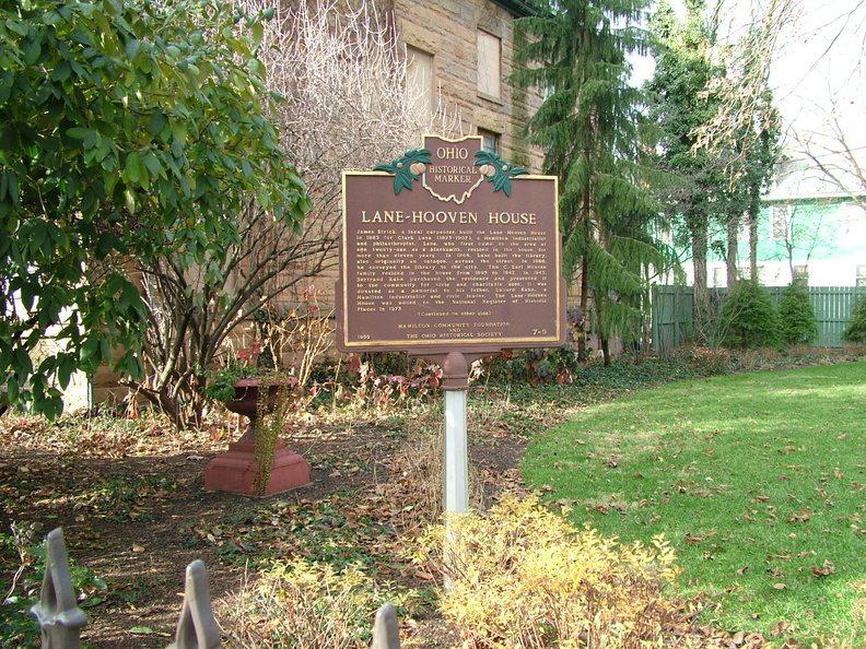 Lane Hooven House Butler County Historical Marker