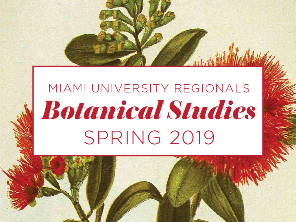 The Conservatory at Miami University Hamilton is excited to announce a new Botanical Studies series. Plants are an important part of our daily lives, from the food we eat to the shade we value in our yards. Plants comprise much of the beauty we see and smell in our lives. Come and learn more about the wonderful resource of plants and how plants improve our lives.