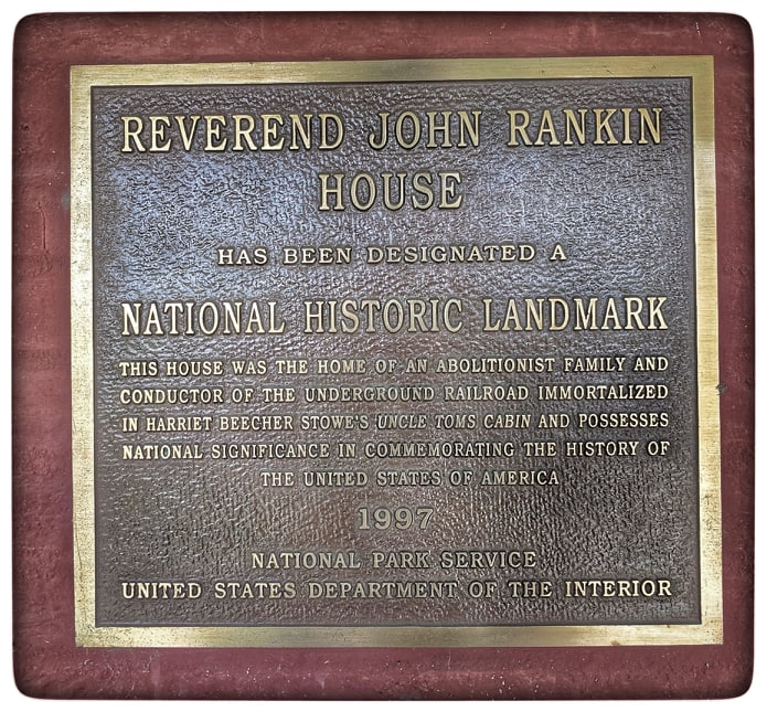 Underground Railroad conducted by Reverend John Rankin. Ripley Ohio historic U.S. 52