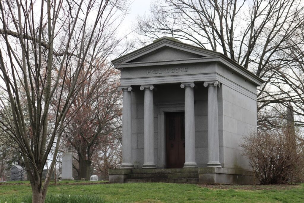 Sorg Mausoleum Woodside Cemetery in Middletown Ohio