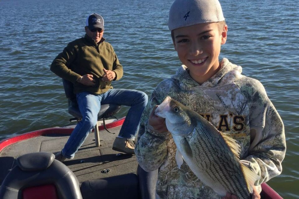 Kids Fishing in Dallas - Sand Bass