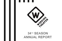 Cover of annual report of 35th season