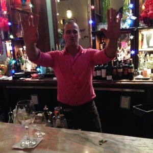 """Speaking of sexy and fun, meet the most charming bartender, Alex (Alejandro) with an accent that makes you feel like you are on a Mediterranean vacation - but here's the kicker:  We had only been there once before, and when we walked in, he said, """"Hello, Duane!""""  I know my husband is memorable, but I was still impressed."""