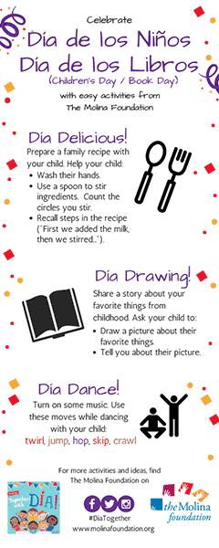 Dia Activities Bookmark