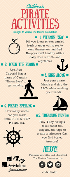 Pirate Activities Bookmark