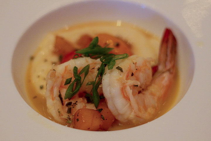 Lemon Honey Shrimp and Grits from Chef Joe Longo