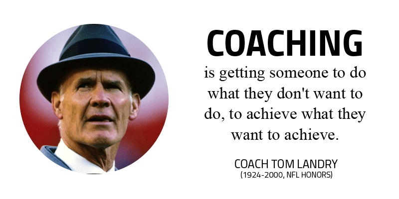 Coach Tom Landry Quote