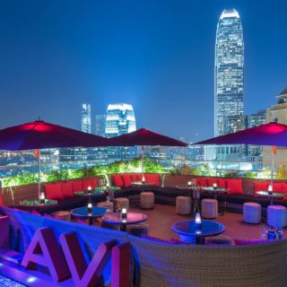 one of the best roof decks in Hong Kong