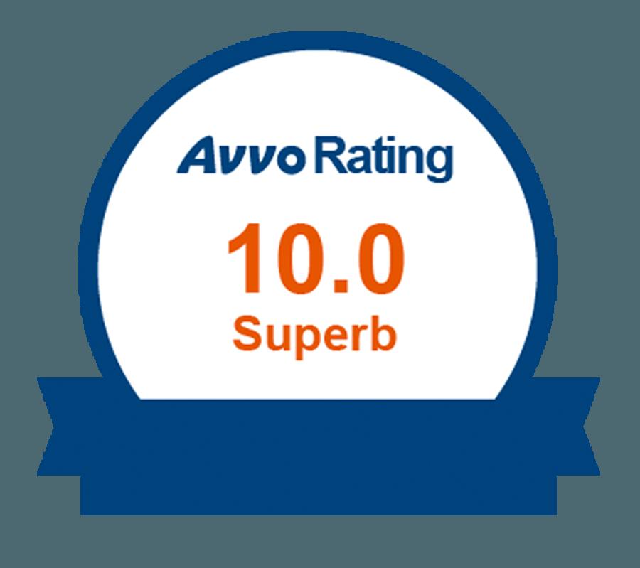 AVVO 10 Rating Yoars Law New York Attorney