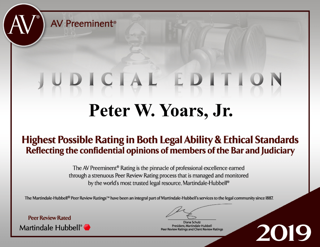 judicial edition peter yoars new york litigation attorney