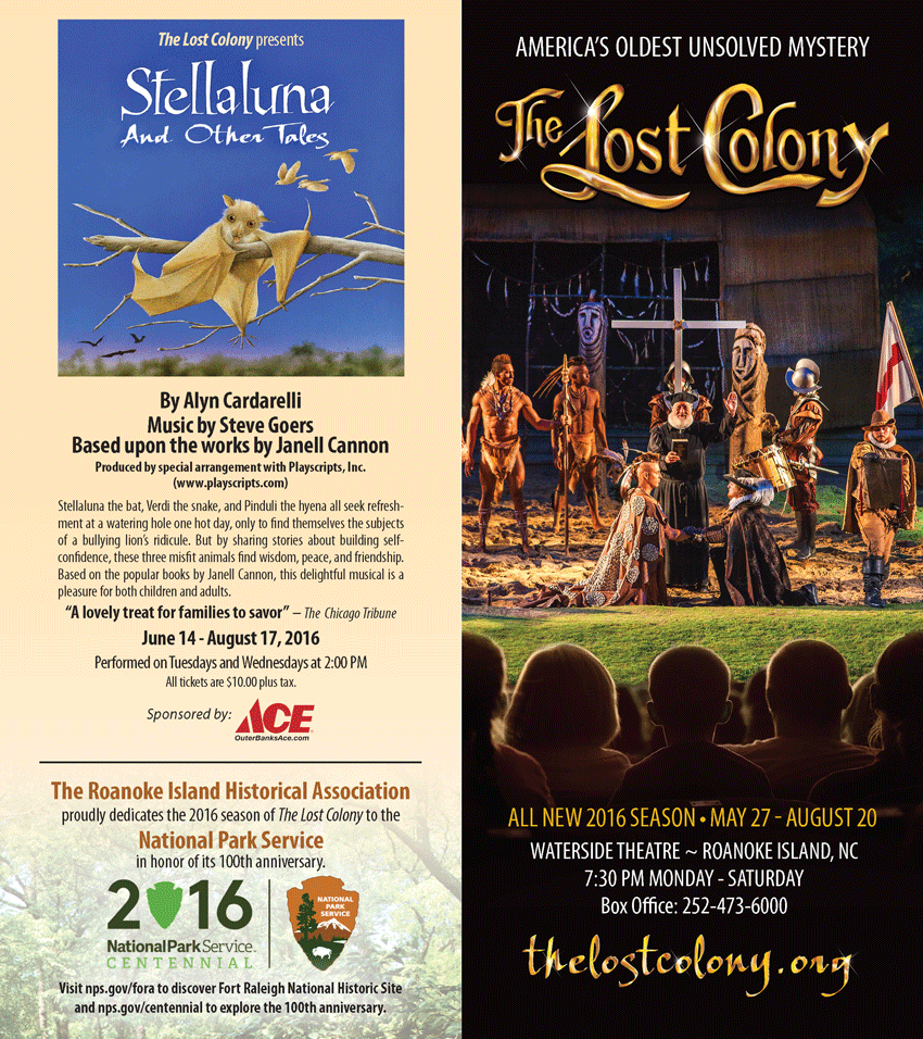 The Lost Colony Rack Brochure Front/Back