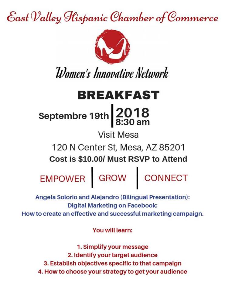 Women's Innovative Network Breakfast – Sept. 19, 2018