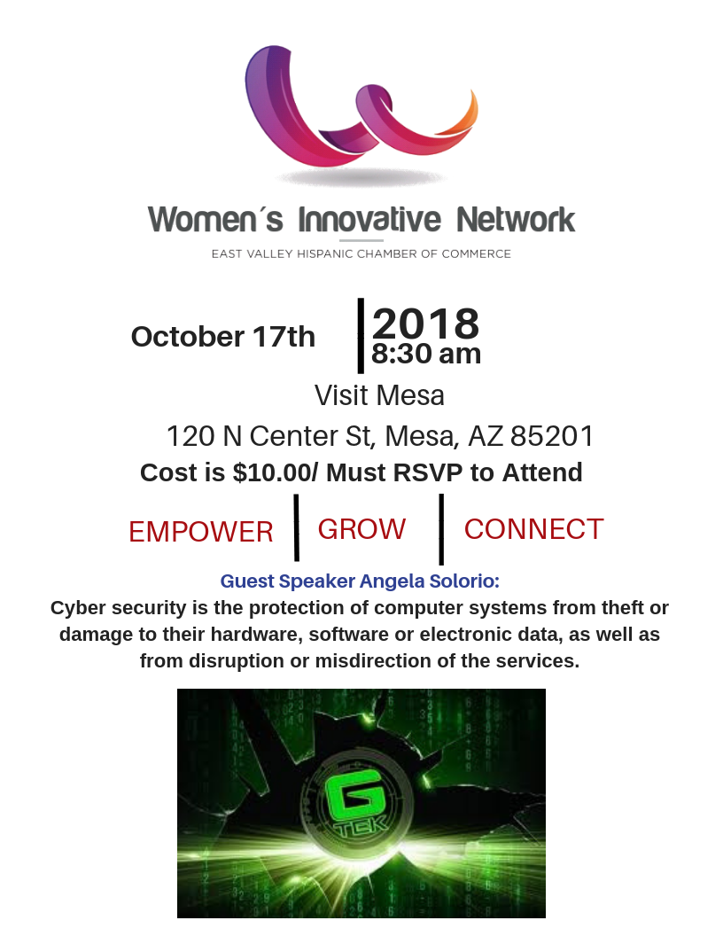 Women's Innovative Network – October 17 2018