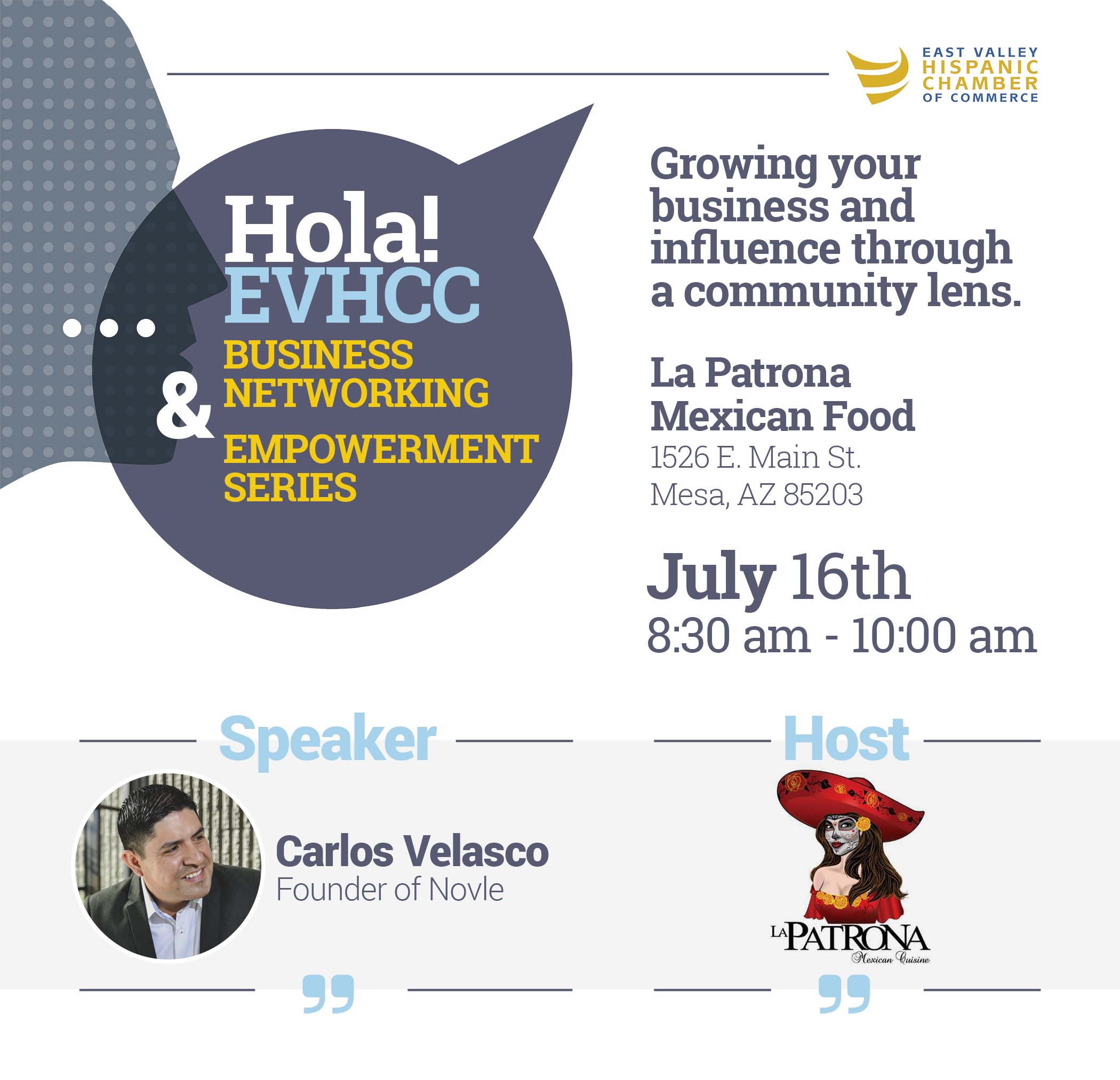 Hola EV Breakfast Business Networking Mixer by EVHCC on July 16 2019