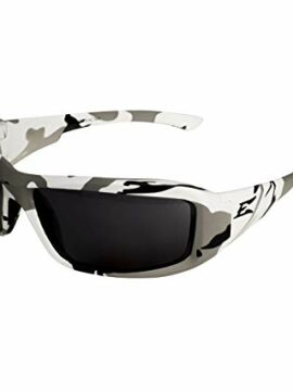 Edge White Camo Smoke Safety Glasses