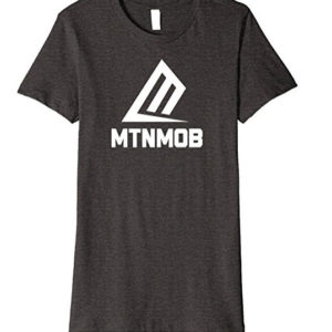 mtnmob ladies basic logo tee heather gray