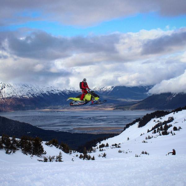 snowmobiling in Alaska