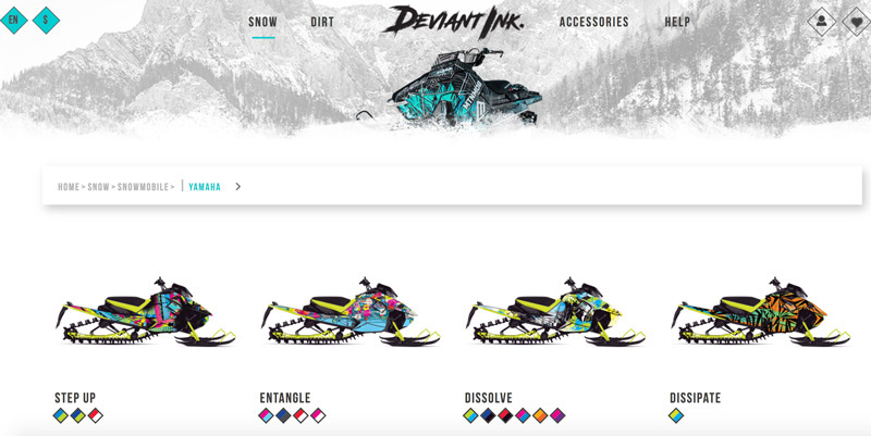 yamaha snowmobile wraps