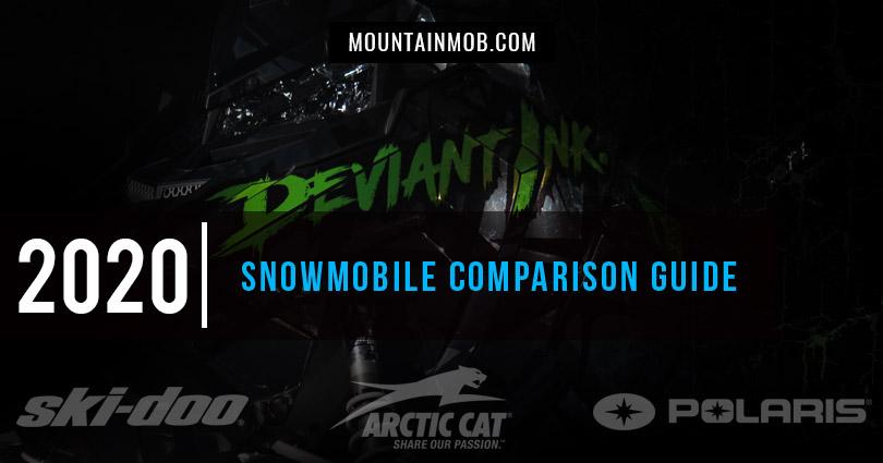 2020 snowmobile comparison chart