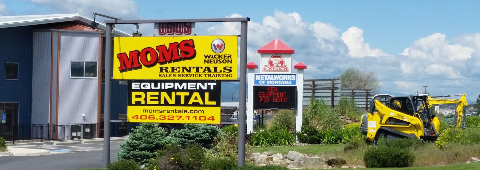MOMS Rentals - Equipment Sales, Service, Rentals and Training