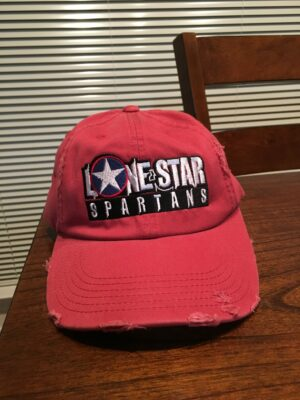 Lone Star Spartans Baseball Hat - Dashing Red color (actual)