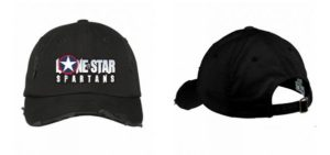 Lone Star Spartans Baseball Hat in Black