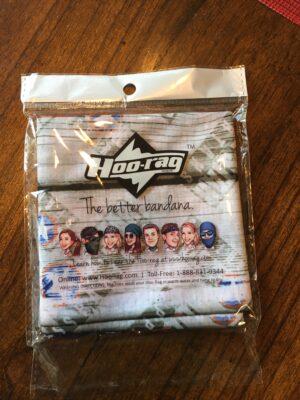 Hoo-rag multifunction headwear in packaging