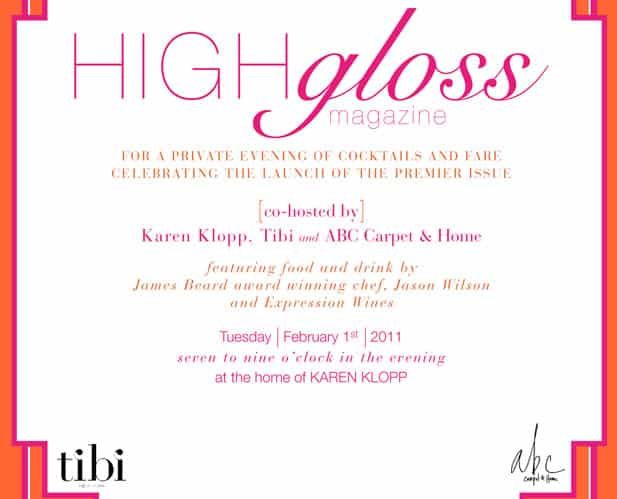 High Gloss Magazine Launch Party