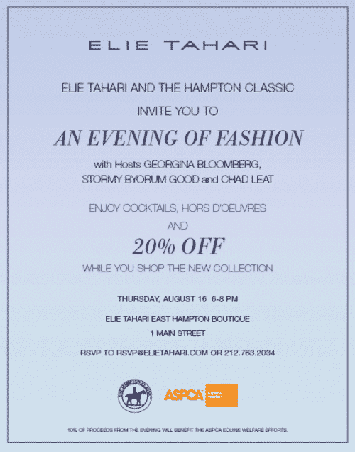 """An Evening of Fashion"" Elie Tahari & The Hampton Classic"