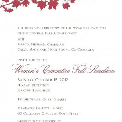 CPC Women's Committee Fall Luncheon 2012