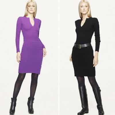 Rl Color Knit Dress