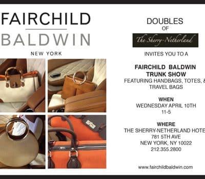 Fairchild Baldwin Trunk Show