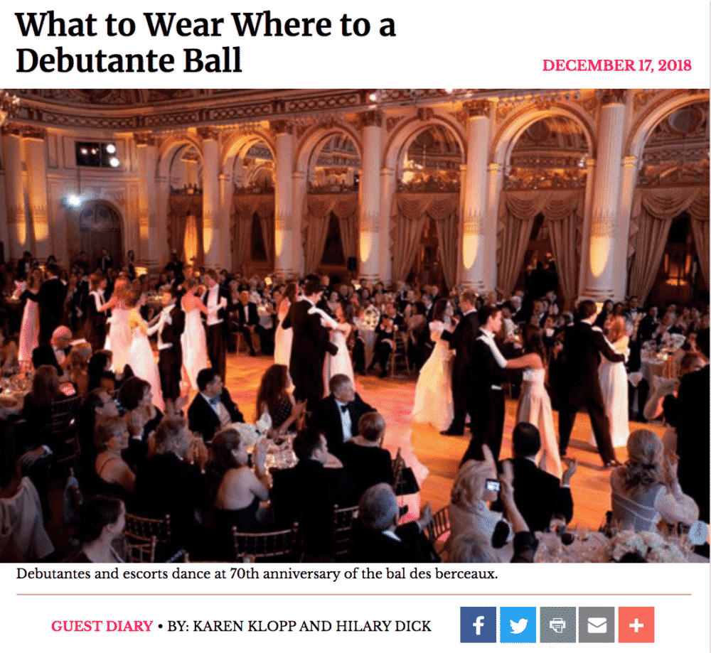 New York Social Diary  Debutante Ball