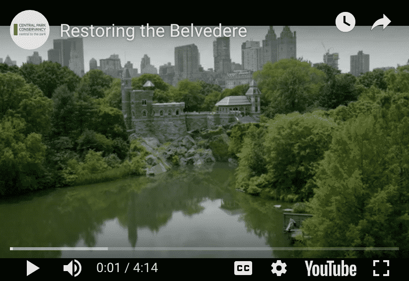Central Park Conservancy, Belvedere castle reopen.