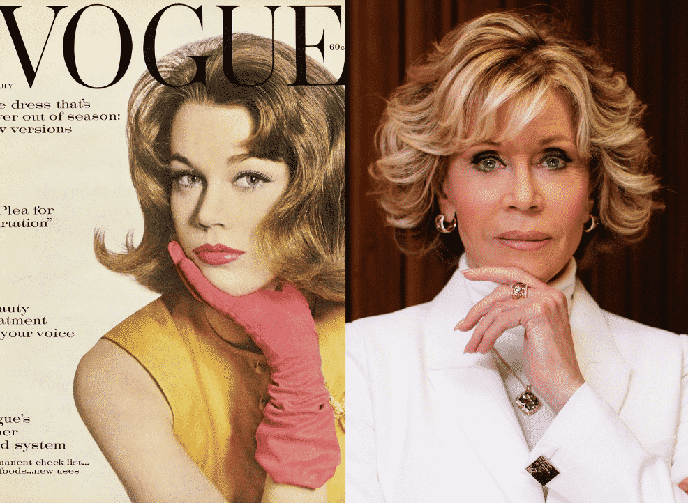 Vogue Magazine 60 years after first cover Jane Fonda on acting,activism.