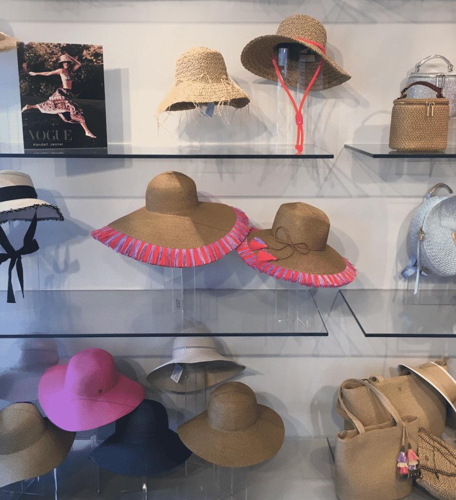 Karen Klopp and Hilary Dick at Eric Javits Hat Showroom. Photo of hats.