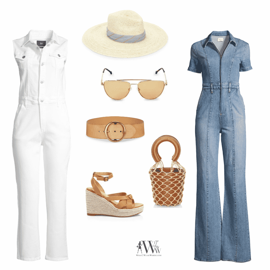What to wear to Limerock Racetrack.  Karen Klopp pick some denim jumpsuits with accessories.