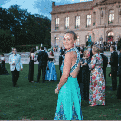 Photo of Hilary Dick at the Newport Preservation Ball Vogue Magazine