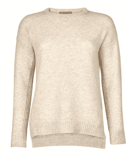 TROY London by Rosie van Cutsem Cosy sweater.   what to wear town and country