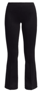 cropped legged, flair.   Wear with high heels or booties for a lean look.