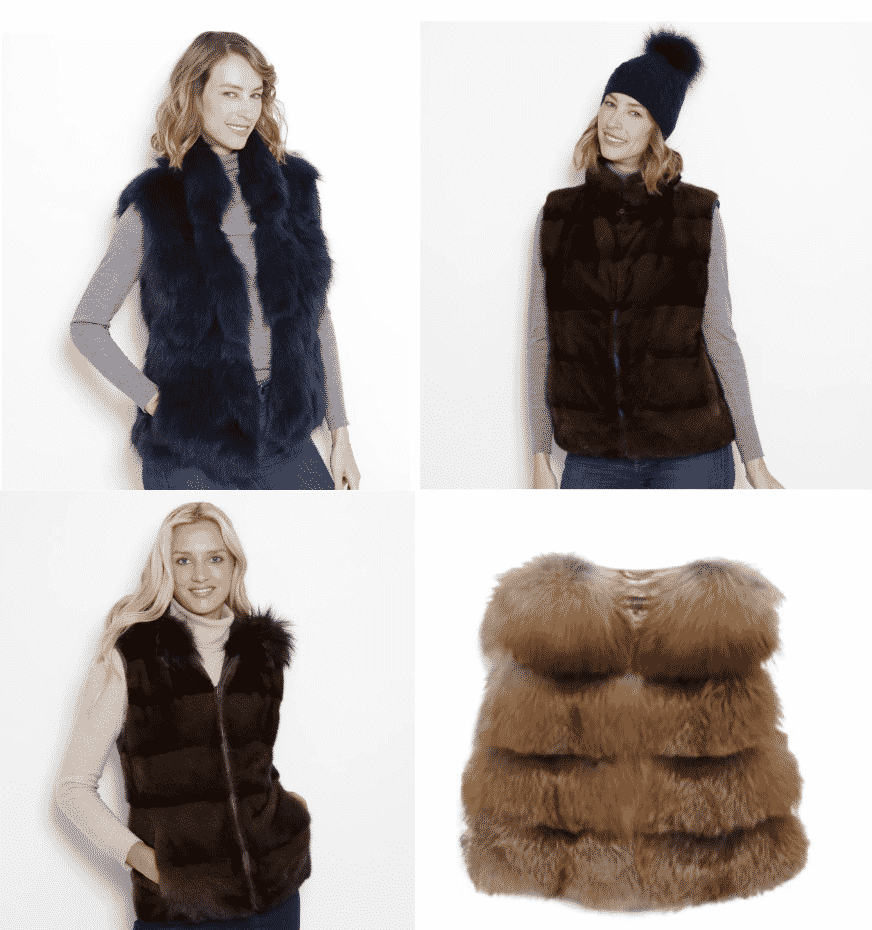 A glamourpuss fur or faux fur vest is a great investment piece for fall and winter and for travel.