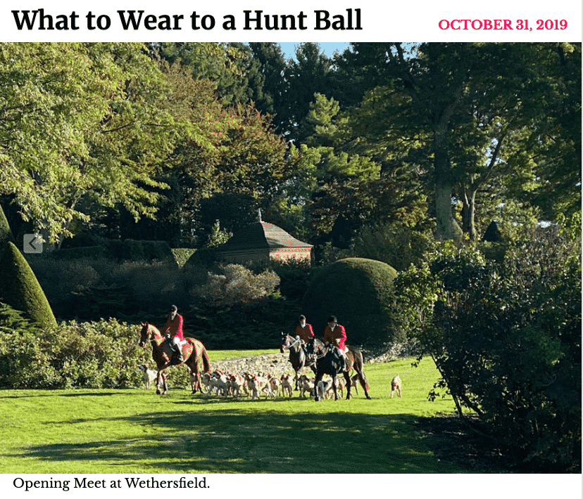 New York Social Diary What to Wear to a Hunt Ball by Karen Klopp and Hilary Dick