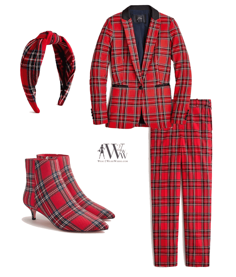 What to wear to park avenue tree lighting?  Tartan plaid by J Crew.