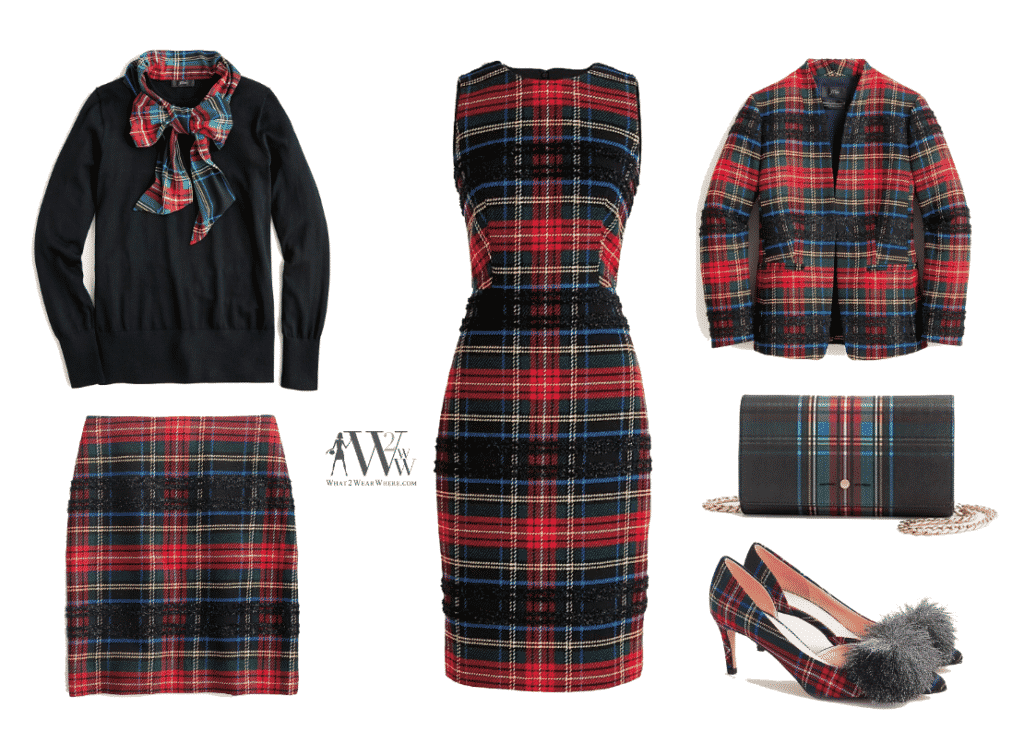 What to wear to Park Avenue Tree Lighing.  Tartan plaid by J Crew