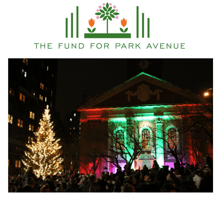 Park Avenue Tree Lighting at Brick Church, Fund for Park Avenue