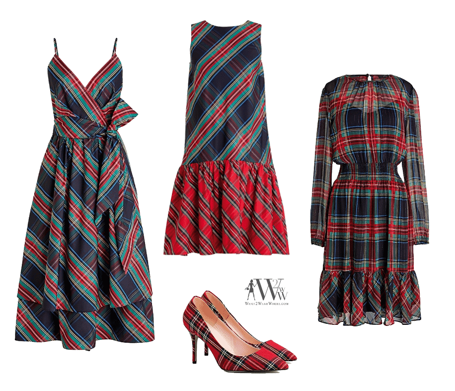 What to wear to a holiday party,  j crew tartan plaid party dresses