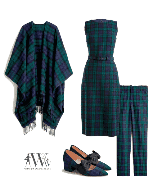 What to wear to Park Avenue Christmas Tree Lighting?  Tartan plaid by J Crew.