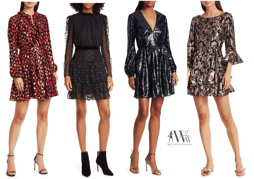 A collection of Solani dresses to wear to holiday parties by Karen Klopp, what2wearwhere.