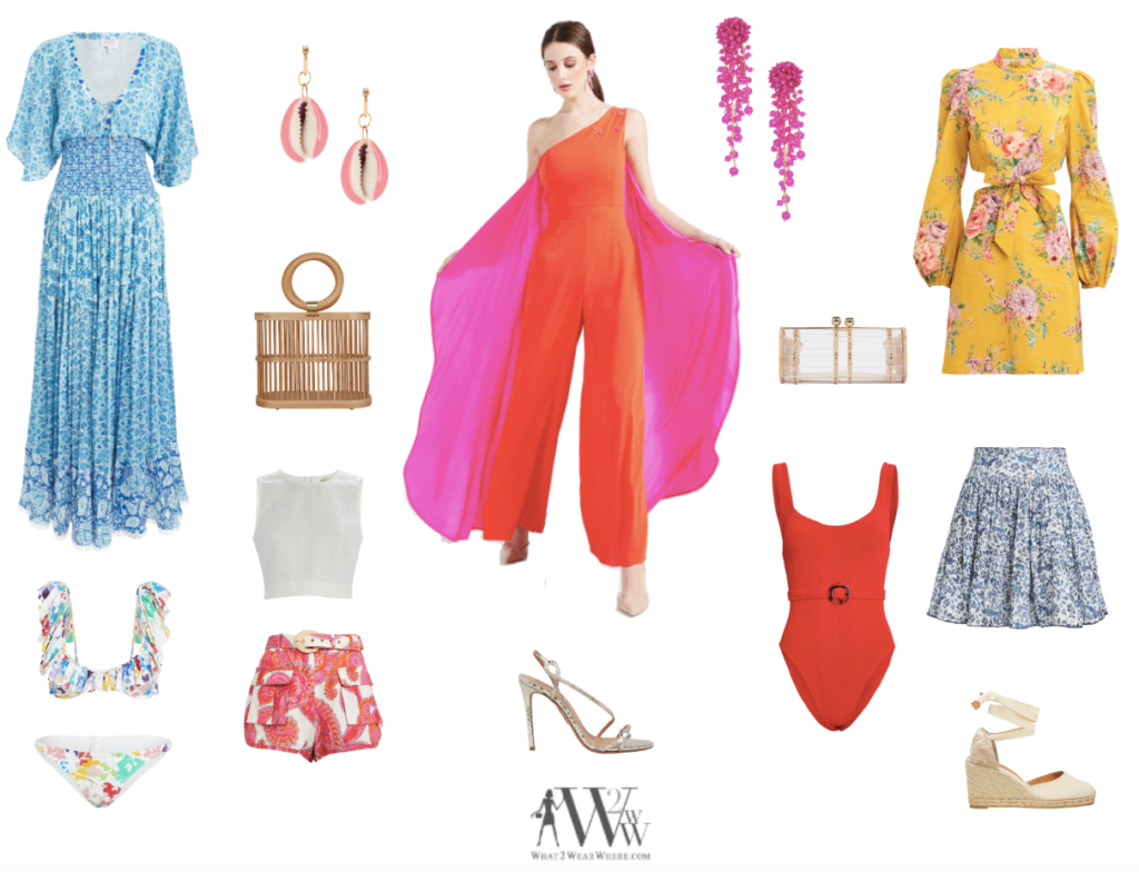 hilary dick chooses a bright pallet for her Palm Beach Holiday.