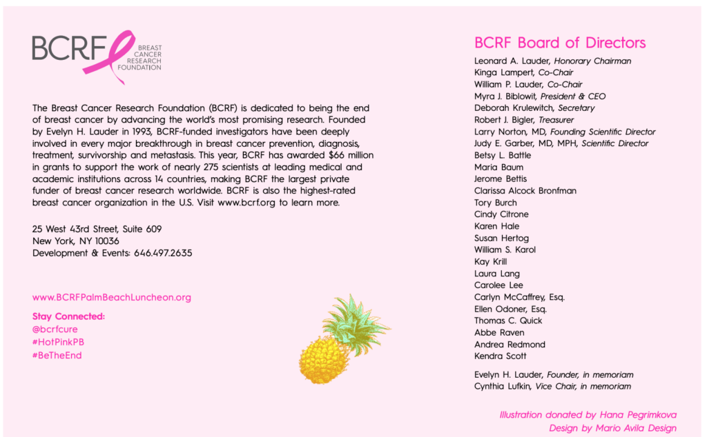 Breast Cancer research Foundation in luncheon & symposium  at Palm Beach hot pink at Breakers